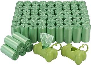 Bringer 1200 Counts Green Dog Waste Bag, Pet Poop Bags with 2 Dispensers, 60 Rolls