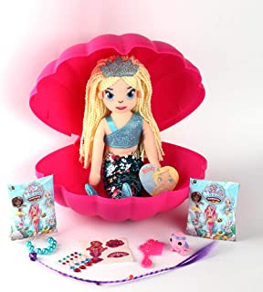 AMAV Toys - Secret Mermaid Treasures - Open The Magic Sea Shell and Reveal a Glittery Soft Mermaid and 8 Surprises to UNbo...