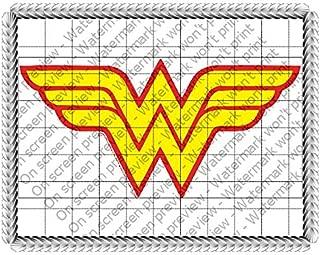 Wonder Woman Logo Edible Icing Image Cake Topper (7.5 Inch Round)