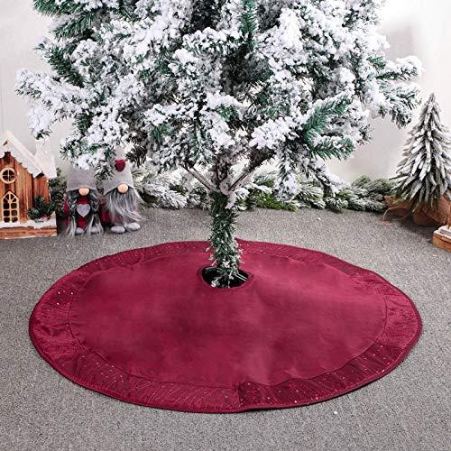 Choinka Spódnica 90 / 127cm Koralik Kacji Cationic Christmas Decoration Fartuch na Wakacje Wystrój domu,127CM