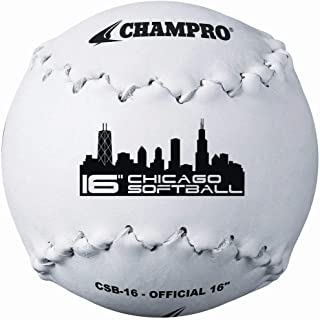 Champro Chicago Softball (White, 16-Inch)