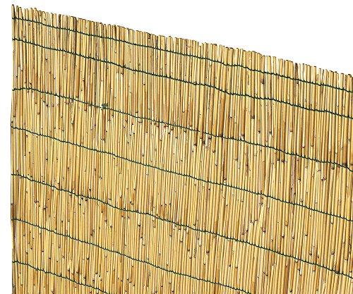 VERDELOOK Arella Cina in cannette Bamboo pelato, 2x3 m, bambù per recinzioni e Decorazioni