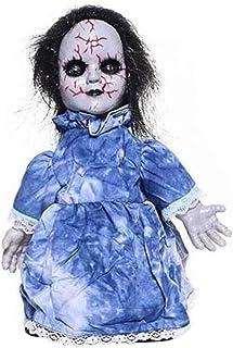 Masker Decoratie, Electronic Glow Walking Baby van het spook Scary Halloween Ghost Doll Voice-geactiveerde (Color : B)