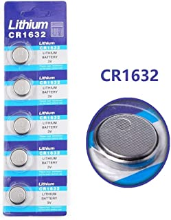 Cotchear 5pcs/Pack CR1632 Button Battery 3V CR1632 Lithium Coin Cell Batteries LM1632 BR1632 ECR1632 CR 1632 Battery for Electronic Watch Remote