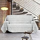 NuvolaNera Copriletto copritutto telo arredo con cotone – per soggiorno, camera da letto o pic nic – Matrimoniale 250x250 cm Grigio