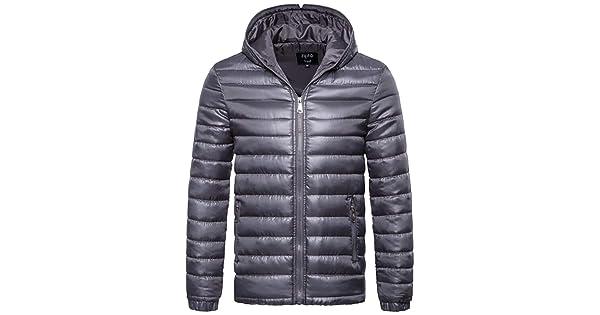 M/&S/&W Mens Hooded Packable Down Puffer Coat Lightweight Down Fall Winter Jacket