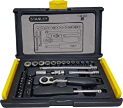 Stanley 1-89-033 Socket and Bit Mechanic Tool Kit, Silver, 35-Pieces