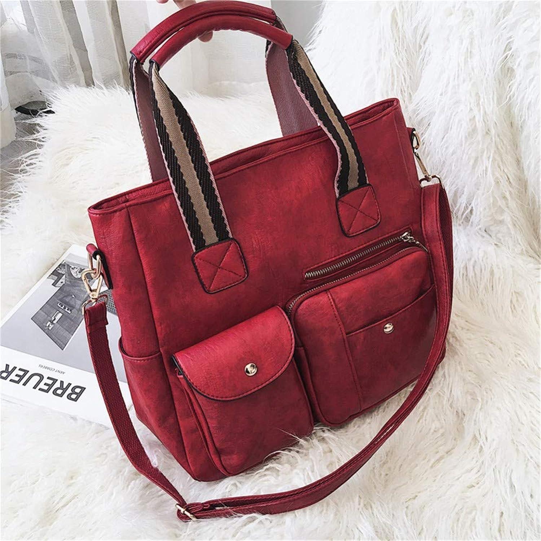Lidoudou Große Tasche weibliche Wilde Retro große Kapazität Schulter geschlungene Handtaschengröße (Höhe 30 cm, Breite 34 cm) Material PU B07P4X2HYM  König der Quantität