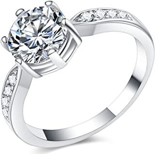 Jude Jewelers Stainless Steel Wedding Engagement Solitaire Ring Valentine Propose Anniversary Promise