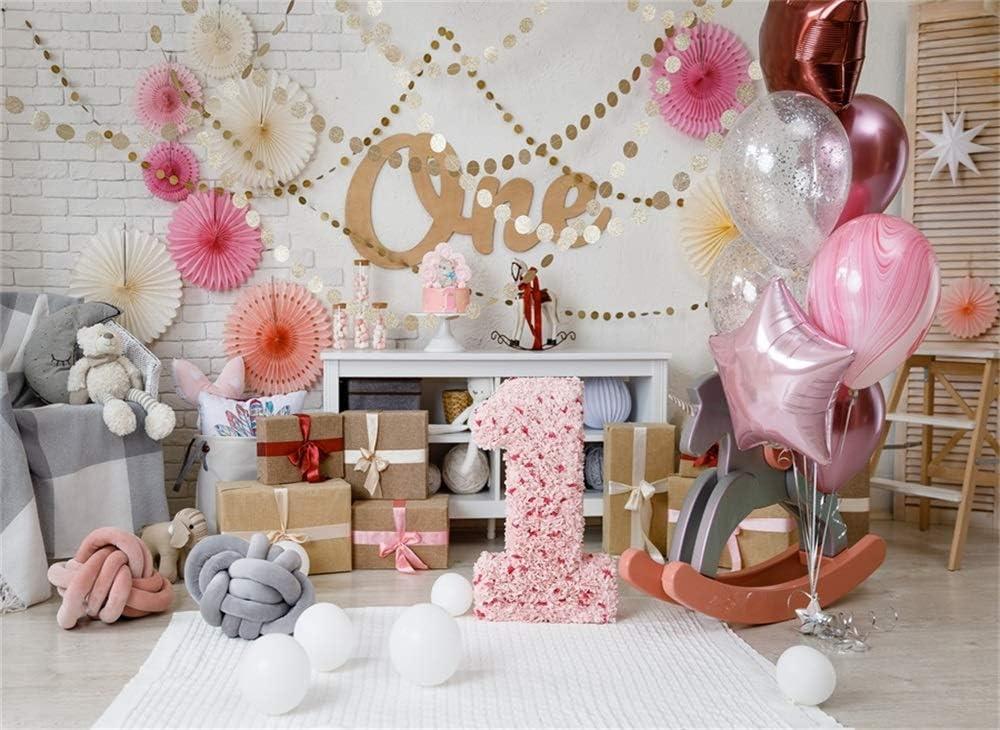 Accessories Wofawofa Girls 1st Birthday Backdrop 9X6FT Vinyl Cake ...
