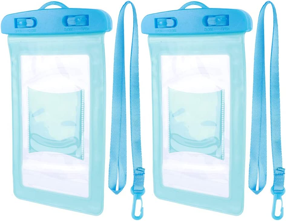 VGEBY Waterproof Phone Pouch, Universal Waterproof Clear Transparent Cellphone Dry Bag, Underwater Drift Diving Swimming Phone Case Cover with Hanging Rope