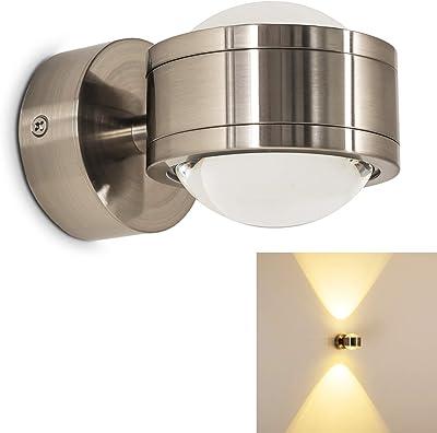 Aplique de pared interior LED Indore - IP44 Aplique exterior LED ...