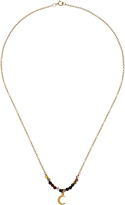 Tourmaline Moon Gemstone Necklace
