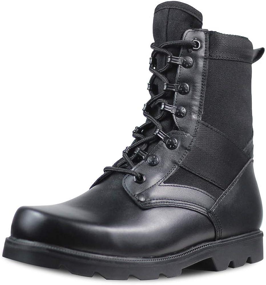 Men's 人気の製品 Black Motorcycle Boots 高級 La Tactical Waterproof Combat