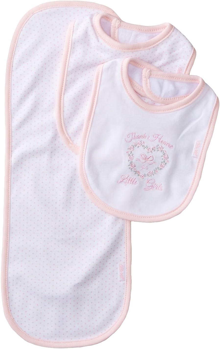 Little Me overseas Baby Girls' 3 and Piece Set Bib Tulsa Mall Burp