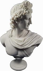 Apollo–Escultura Estatua Antiguo Dios Griego de Sol y poesía Gran Busto