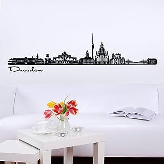 Dresden Altstadt Hafen Design XXL Wandbild Kunstdruck Foto Poster P1439