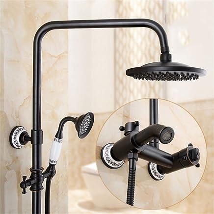 Bathroom Fixtures Cold And Hot Mixer Faucet Shower Tap Set Bathroom Antique Sprinkler Suit All Copper Vintage Antique Bronze Shower Faucet