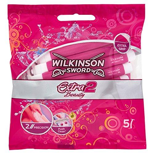 Wilkinson Sword Extra 2 Beauty Einwegrasierer Damen, 5 St, 1 Packung