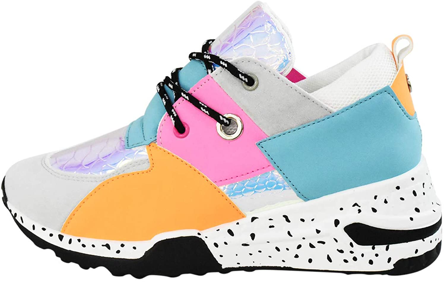 LUCKY-STEP Women Breathable High quality Max 71% OFF Mesh Non-Sl Fashion Sneakers Leopard