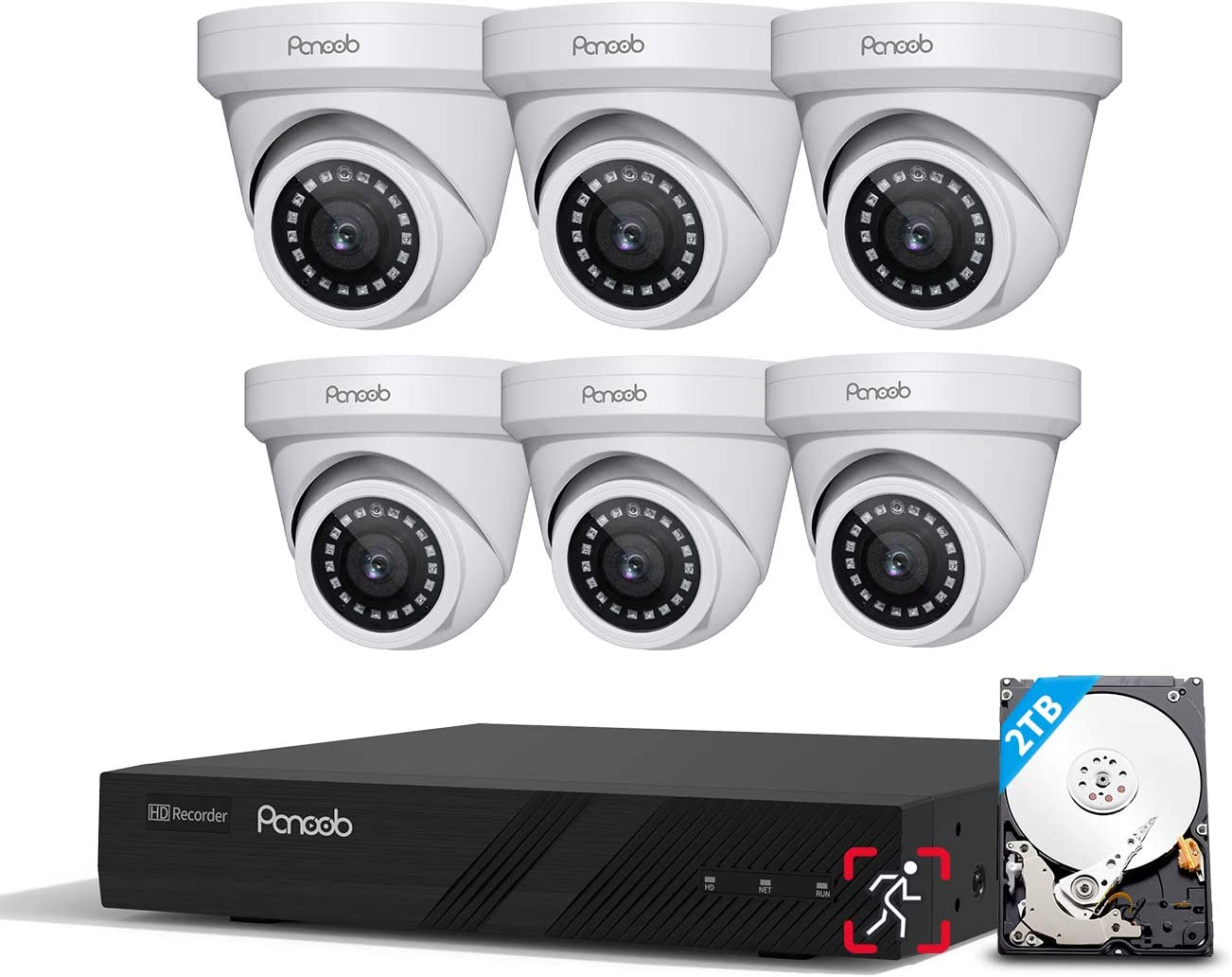PANOOB 8CH 4K PoE Security Camera 8MP Genuine Free Shipping NVR We OFFer at cheap prices Systems 8-Channel