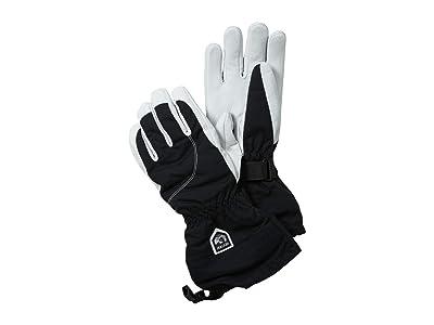 Hestra Heli Ski (Black/Off-White) Ski Gloves