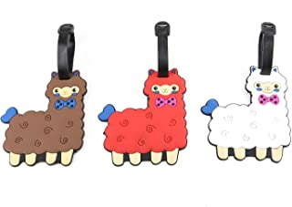 Cute Alpaca Luggage Tags Animal Travel Bag Luggage Name Tag Suitcase ID Labels