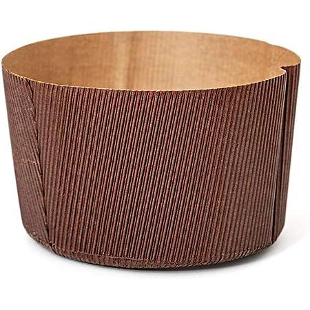 DECORA Emballage de Cuisson Canasta en Papier Allant au Four, Cellulose, Brun, ø 13 x h 9,5 cm