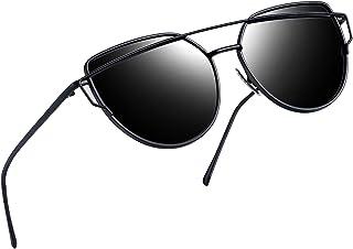 46e78654a54 Joopin Polarized Cat Eye Sunglasses for Women Metal Frame Sun Glasses UV400  Shades