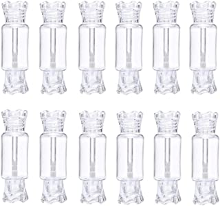 RONRONS 12 Pack Empty Lip Gloss Tube Candy Shape Plastic Lip Balm Containers Refillable DIY Cosmetics Reusable Sample Bottles,Clear