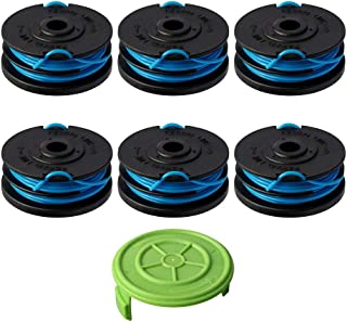 Thten Trimmer Spool Replacement for Greenworks 2900719 20ft 0.065 inch with Greenworks 2101602 and 2101602A Dual line String Trimmers 6 Pack+1 Cap