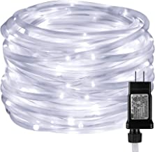 LE LED Rope Light with Timer, Low Voltage, 8 Mode, Waterproof, Daylight White, 33ft 100 LED, Indoor Outdoor Plug in Light Rope and String for Deck, Patio, Bedroom, Boat, Landscape Lighting and More