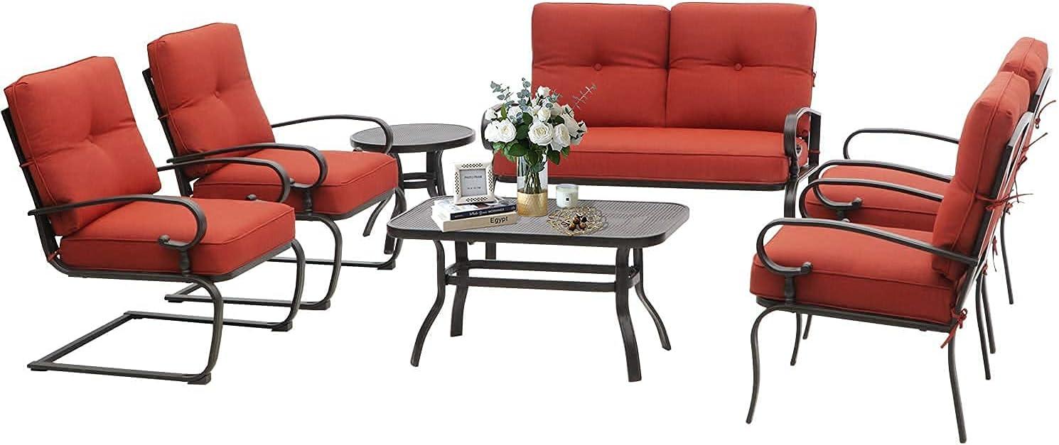 Oakmont 7Pcs OFFicial Outdoor Metal Furniture Patio sale Set Sets Conversation