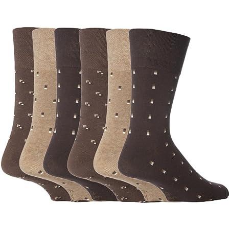 NEW: 6 Pairs Men's Gentle Grip No Elastic Socks 6-11 uk, 39-45 eur