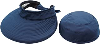 Wide Large Brim Sun Hat Summer UV Protection Thin Hat 2 in 1 Beach Sun Hat