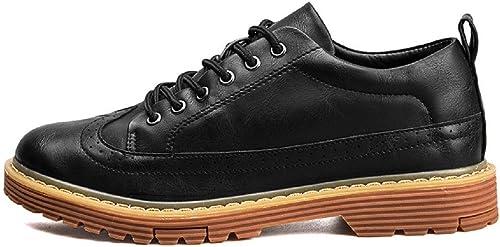 Homme Le nouveau Mode Loisir chaussures en cuir Chaussures d'outillage Entreprise Chaussures décontractées Fond épais Chaussures antidérapantes EUR TAILLE 39-44