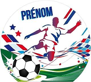 Sticker Tête de Lit pour Chambre d'enfant - Football - Personnalisable avec Le Prénom De Votre Enfant - Dimensions 81 cm x...
