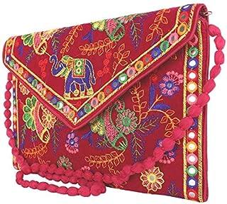 Craft Trade Embroidered Sling Bag Rajasthani Handmade Designer Purse/Crossbody Bag for Women & Girls