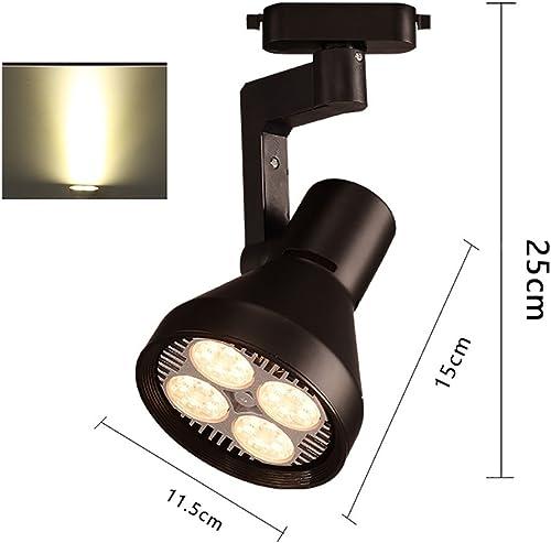 WUFENG Projecteurs Spotlumières à LED Spot de Magasin de vêteHommests éclairage de Piste Mur de Fond Salle d'exposition Plafonniers (Couleur   40W-noir, Taille   B)