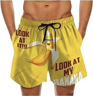 Jaromepower Summer Men's Swimwear, Men Drawstring Special Cock Print Beer Festival Beach Casual Trouser Shorts Pant