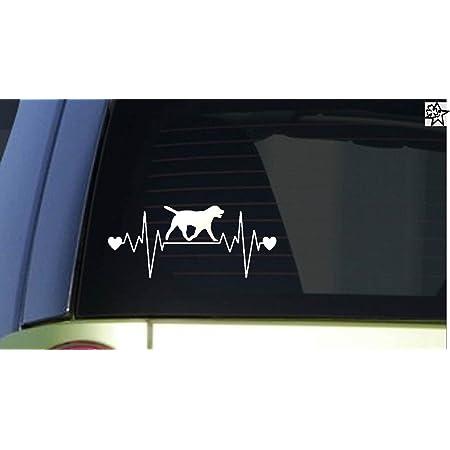 Herzschlag Aufkleber Golden Retriever 20cm Sticker Herz Fan Hobby Leidenschaft Liebe Für Auto Autoaufkleber Auto