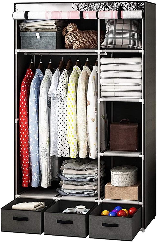 08e47825809e Xiao Jian Cloth Wardrobe Dustproof Single Student Fabric Wardrobe ...
