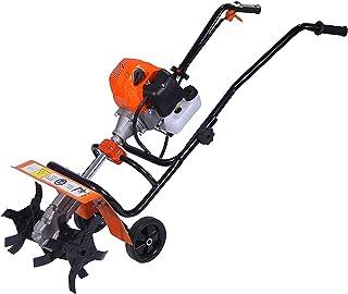 QILIN Garden Cultivator, 2-stroke/4-stroke Gasoline Tiller, Handheld Multifunctional Soil Tillage Machine, Red