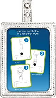 Cosco MyID Badge Holder for Key Cards and ID Cards, Silver, 4 x 2.5 Inches (075004)