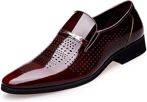 KMJBS Chaussures pour Homme en été Entreprise Chaussures de Cuir pour Homme HolFaible Out Trous Cuir percé.