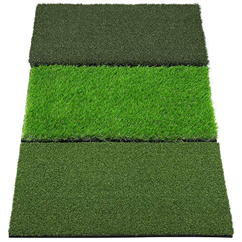 SkyLife 3-Turf Golf Hitting Grass Mat 16'' x 25'', Portable Training Fairway Rough...