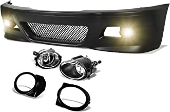 DNA Motoring FBP-FL-003 Polypropylene ABS Front Bumper + Fog Light (M3 Style)