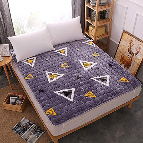 zlzty Colchón de Espuma viscoelástica Cama Individual, colchón de Terciopelo Cama Plegable Dormitorio de Estudiante Engrosado Tatami Individual @ G_180 * 200 cm