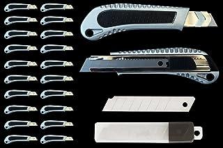20x profesional Aluminio Fundido–Cúter (18mm, con guía metálica + 10Incluye cúter Cuchillas de repuesto
