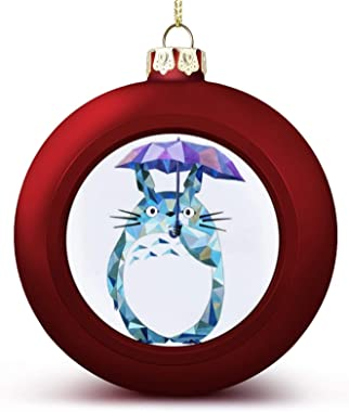 Totoro Christmas Ball Ornament Decorations Balls for Xmas Tree Ornament Hanging Stylish Lightweight Decoration with Hanging L
